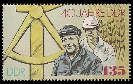 135 Pf Briefmarke: 40 Jahre DDR, Wohnungsbau