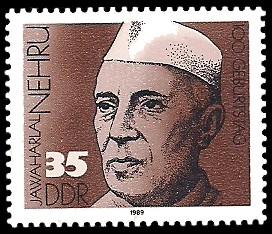 35 Pf Briefmarke: 100. Geburtstag Jawaharlal Nehru