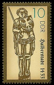 10 Pf Briefmarke: Rolande, Halberstadt