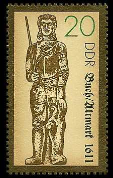 20 Pf Briefmarke: Rolande, Buch/Altmark