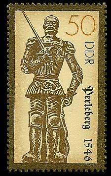 50 Pf Briefmarke: Rolande, Perleberg