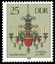 25 Pf Briefmarke: Erzgebirgische Leuchterspinnen, Annaberg