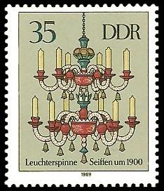 35 Pf Briefmarke: Erzgebirgische Leuchterspinnen, Seiffen