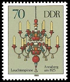 70 Pf Briefmarke: Erzgebirgische Leuchterspinnen, Annaberg