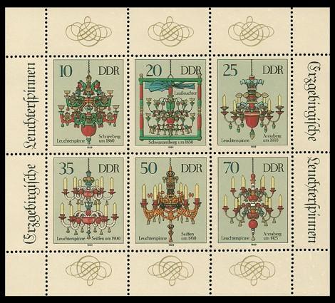 Briefmarke: Kleinbogen - Erzgebirgische Leuchterspinnen