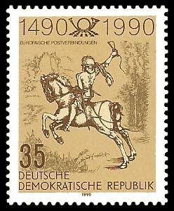 35 Pf Briefmarke: Europäische Postverbindungen