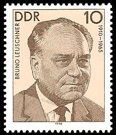 10 Pf Briefmarke: Verdienstvolle Persönlichkeiten der Arbeiterbewegung, Bruno Leuschner