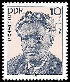10 Pf Briefmarke: Verdienstvolle Persönlichkeiten der Arbeiterbewegung, Erich Weinert