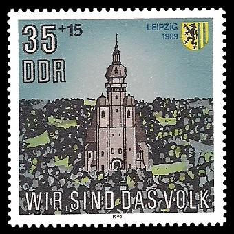 35 + 15 Pf Briefmarke: Wir sind das Volk