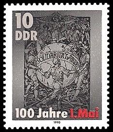 10 Pf Briefmarke: 100 Jahre 1. Mai, Schmuckblatt