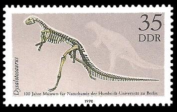 35 Pf Briefmarke: 100 Jahre Museum für Naturkunde, Dysalotosaurus