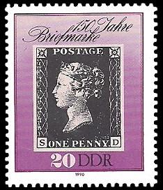 20 Pf Briefmarke: 150 Jahre Briefmarke
