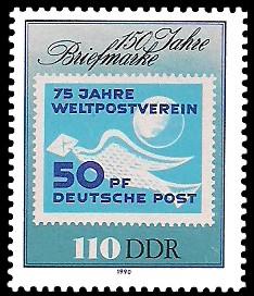 110 Pf Briefmarke: 150 Jahre Briefmarke