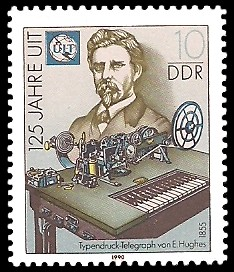 10 Pf Briefmarke: 125 Jahre UIT, Edward Hughes