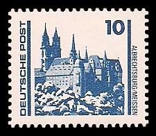 10 Pf Briefmarke: Freimarke Bauwerke, Albrechtsburg