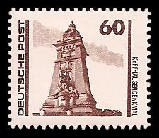 60 Pf Briefmarke: Freimarke Bauwerke, Kyffhäuserdenkmal