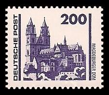 200 Pf Briefmarke: Freimarke Bauwerke, Magdeburger Dom