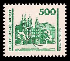 500 Pf Briefmarke: Freimarke Bauwerke, Schloss Schwerin