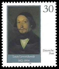 30 Pf Briefmarke: Neue Synagoge Berlin, Louis Lewandowski