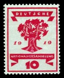 10 Pf Briefmarke: Deutsche Nationalversammlung