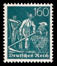 160 Pf Briefmarke: Arbeiter, Bauer (Wz Rauten)