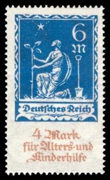 6 + 4 M Briefmarke: Alters- und Kinderhilfe