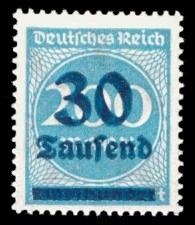 30 Tsd. auf 200 M Briefmarke: Ziffern im Kreis, 200 M - mit Aufdruck 30 Tsd