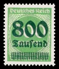 800 Tsd. auf 300 M Briefmarke: Ziffern im Kreis, 300 M - mit Aufdruck 800 Tsd