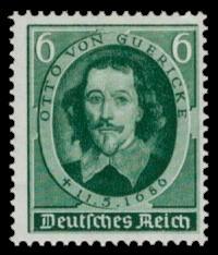 6 Pf Briefmarke: 250. Todestag Otto von Guericke