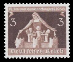 3 Pf Briefmarke: VI. Gemeindekongress in Berlin u München