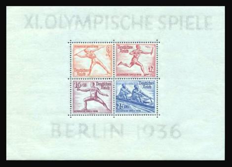 Briefmarke: Block: Olympische Sommerspiele 1936