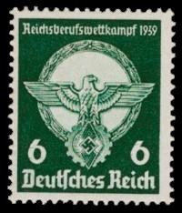6 Pf Briefmarke: Reichsberufswettkampf 1939