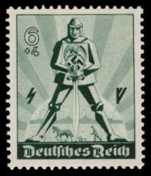 6 + 4 Pf Briefmarke: Tag der Arbeit 1940