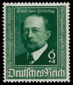 6 + 4 Pf Briefmarke: 50 Jahre Diphtherie-Serum