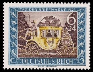 6 + 24 Pf Briefmarke: Tag der Briefmarke 1943