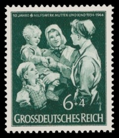 6 + 4 Pf Briefmarke: 10 Jahre Hilfswerk Mutter und Kind
