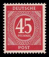 45 Pf Briefmarke: Freimarken I. Kontrollratsausgabe Ziffern, Ziffer 45 Pf