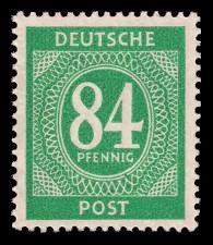 84 Pf Briefmarke: Freimarken I. Kontrollratsausgabe Ziffern, Ziffer 84 Pf