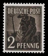 2 Pf Briefmarke: Freimarken II. Kontrollratsausgabe, Pflanzer