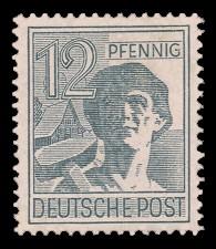 12 Pf Briefmarke: Freimarken II. Kontrollratsausgabe, Arbeiter