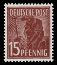 15 Pf Briefmarke: Freimarken II. Kontrollratsausgabe, Pflanzer