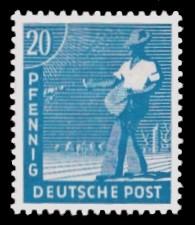 20 Pf Briefmarke: Freimarken II. Kontrollratsausgabe, Sämann