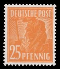 25 Pf Briefmarke: Freimarken II. Kontrollratsausgabe, Pflanzer
