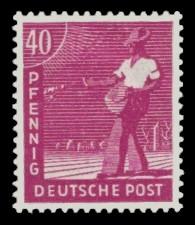 40 Pf Briefmarke: Freimarken II. Kontrollratsausgabe, Sämann