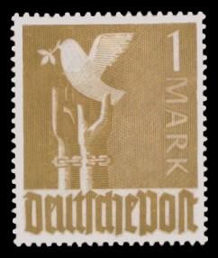 1 M Briefmarke: Freimarken II. Kontrollratsausgabe, Friedenstaube