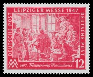 12 Pf Briefmarke: Leipziger Herbstmesse 1947