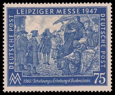 75 Pf Briefmarke: Leipziger Herbstmesse 1947