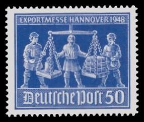 50 Pf Briefmarke: Exportmesse Hannover 1948