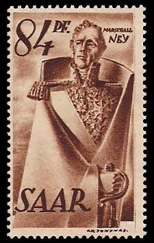 84 Pf Briefmarke: Saar I, Berufe und Ansichten aus dem Saarland