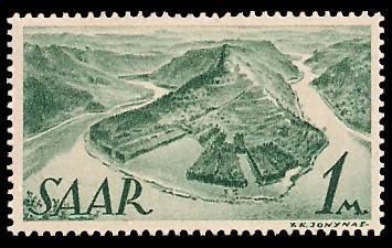 1 M Briefmarke: Saar I, Berufe und Ansichten aus dem Saarland